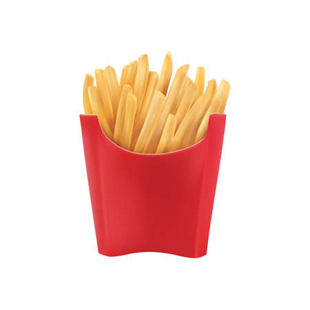 french fries Ilustrace