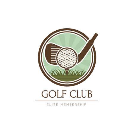 golf club logo élément de conception