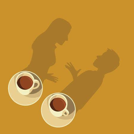 talk over coffee concept