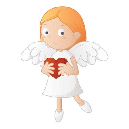Personnage de fille ange Banque d'images - 79152757