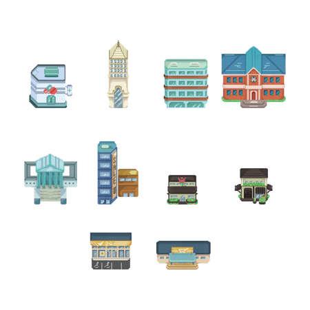 collectie van gebouwen