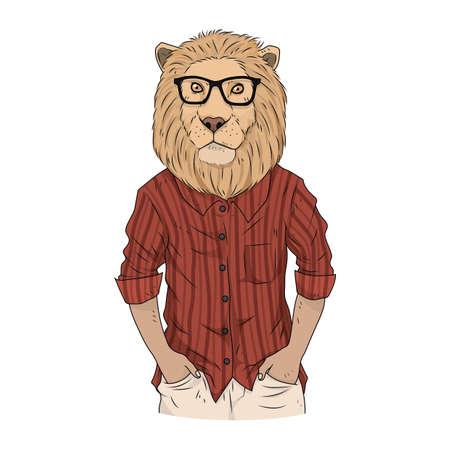 lion character Illustration