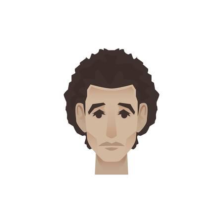 顔の表情を持つ男  イラスト・ベクター素材