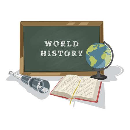 Wereldgeschiedenis concept ontwerp Stock Illustratie
