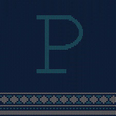 letter p Иллюстрация