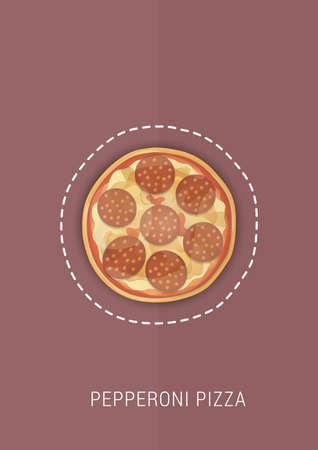 페퍼로니 피자 디자인