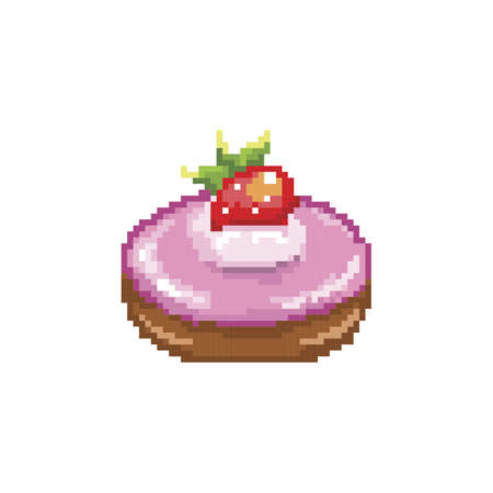 aardbeien donut met glazuur
