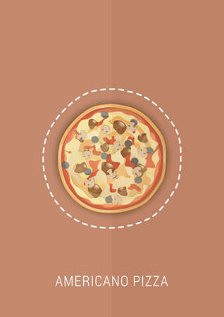 americano pizza design