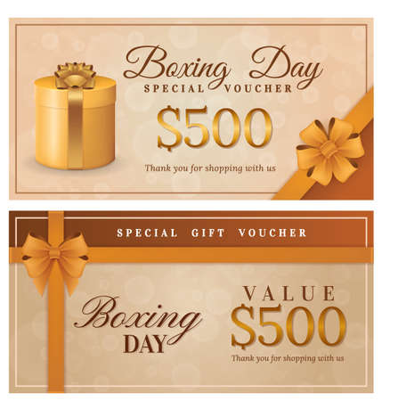 boxing day voucher design