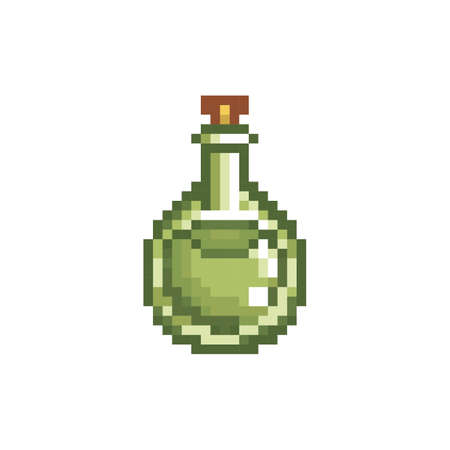 pixelated potion vial