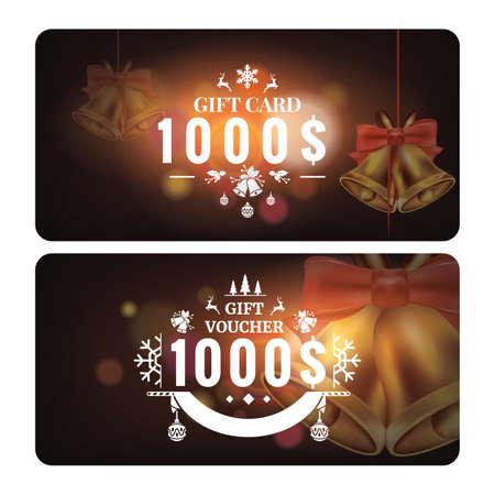 クリスマス ギフト カード  イラスト・ベクター素材