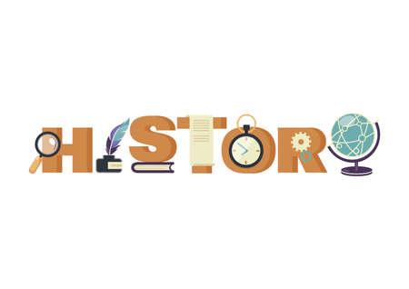 happenings: history lettering design Illustration