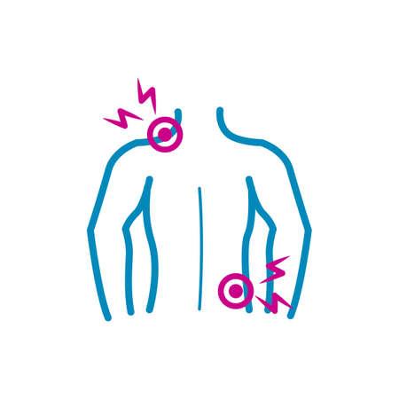 Corps humain avec dos et douleur à l & # 39 ; épaule Banque d'images - 79152856
