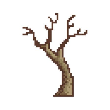 pixelated bare tree