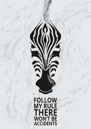 zebra quote design