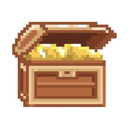 pixelated treasure chest