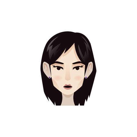 顔の表情を持つ女性