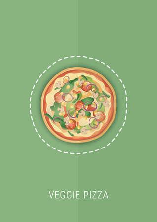 野菜ピザ デザイン