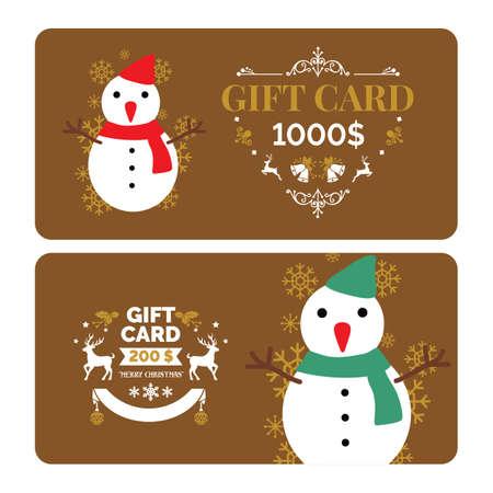 クリスマス ギフト カード デザイン  イラスト・ベクター素材