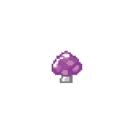 pixelated mushroom Ilustração