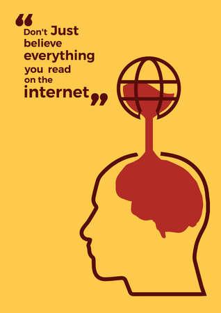 internet citaat ontwerp