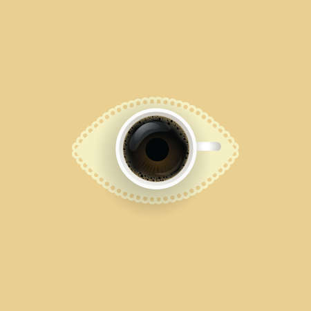 coffee eye concept Illustration