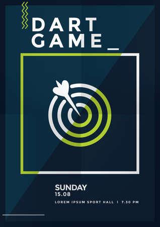 dart game poster design