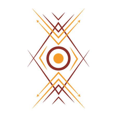 アステカの部族のデザイン