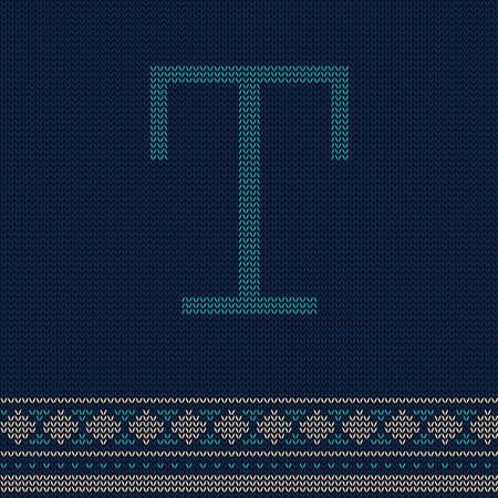 letter t Иллюстрация