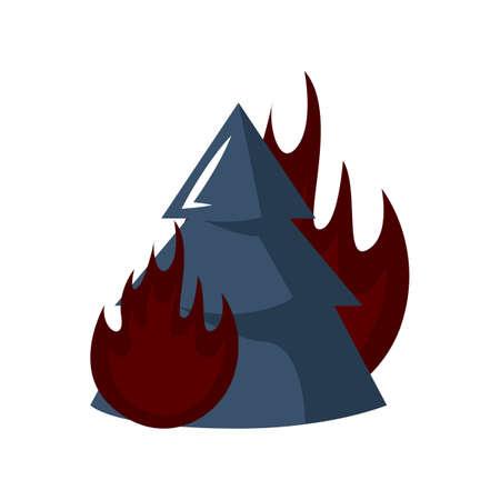 森林火災  イラスト・ベクター素材