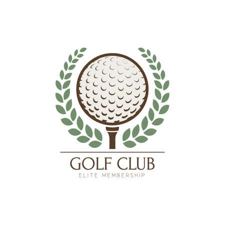 golf club logo element design