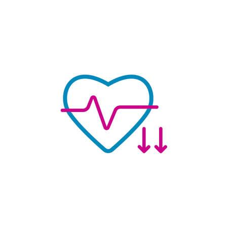 Diminution de la fréquence cardiaque Banque d'images - 79213210