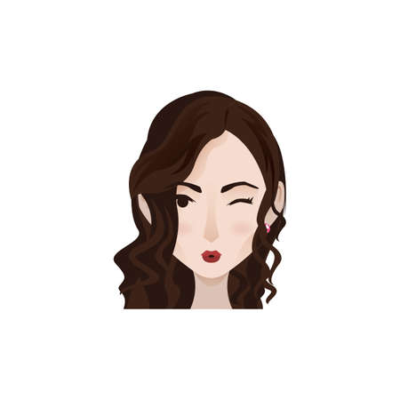 woman with facial expression Illustration