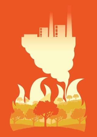 deforestation concept Ilustração