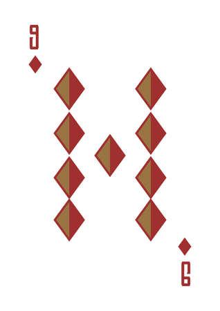 nine of diamonds Illustration