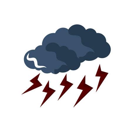 雷雨  イラスト・ベクター素材