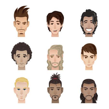 顔の表情を持つ男性のコレクション
