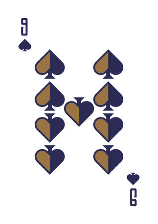 nine of spades Иллюстрация