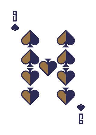 nine of spades Illustration