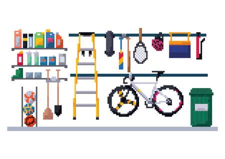 garage berging Stock Illustratie