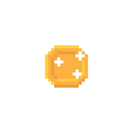 pixelated gold coin 向量圖像