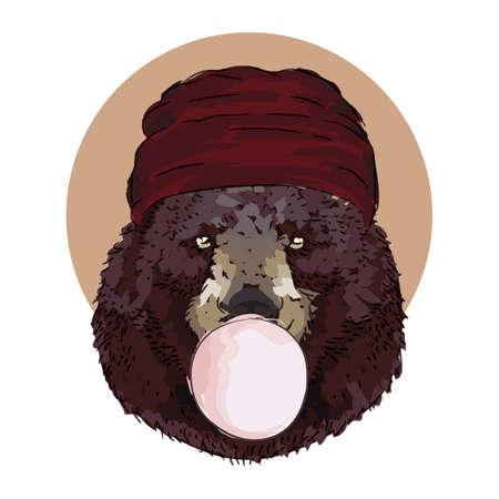 곰 인물 일러스트