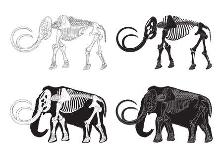 set of mammoth icons