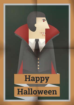 gelukkig Halloween ontwerp Stock Illustratie