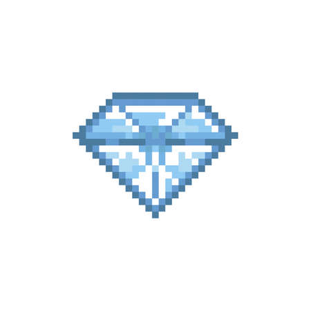 pixelvormige diamant Stock Illustratie