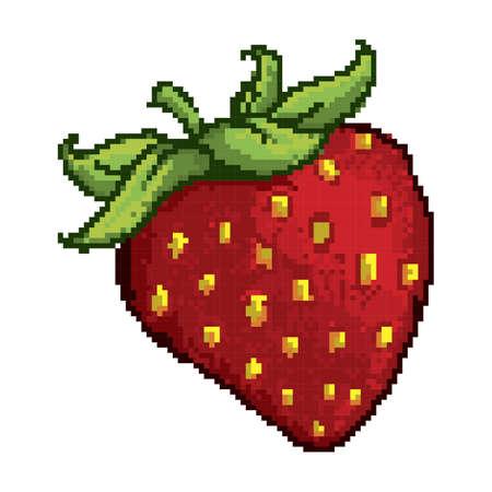 pixelated strawberry Illustration