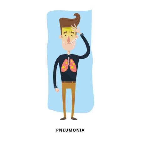 man with pneumonia