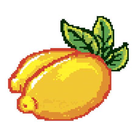 pixelated lemon