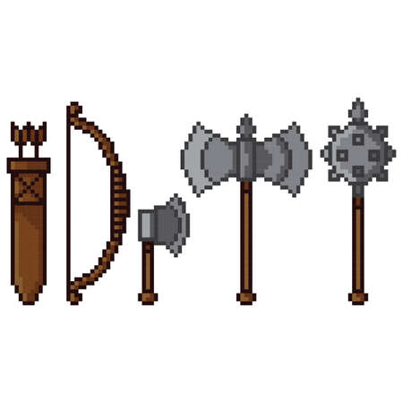 collection of medieval weapons