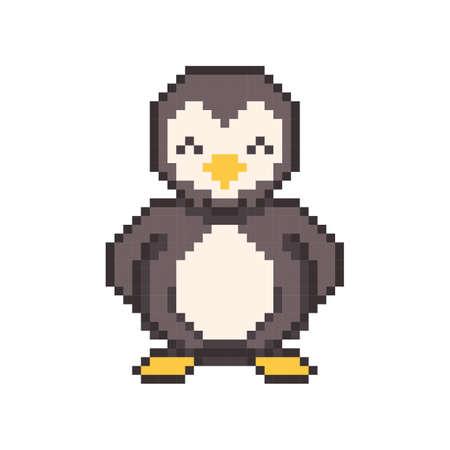 pixel art penguin Illustration